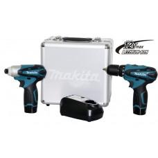 Furadeira e Parafusadeira Bateria 3/8 kit