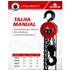 Talha Manual 3,5t 5m Worker 866989