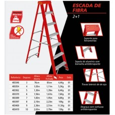 Escada de Fibra 7 Degraus Worker - 483389